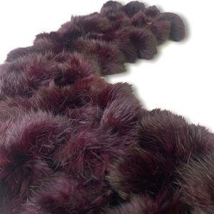 Dark purple Pom Pom Ball scarf